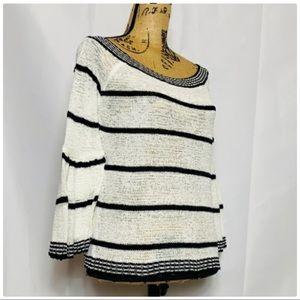 BB Dakota Black & White Stripe Knit Sweater